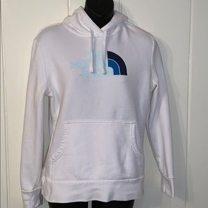 The North Face white hoodie sweatshirt
